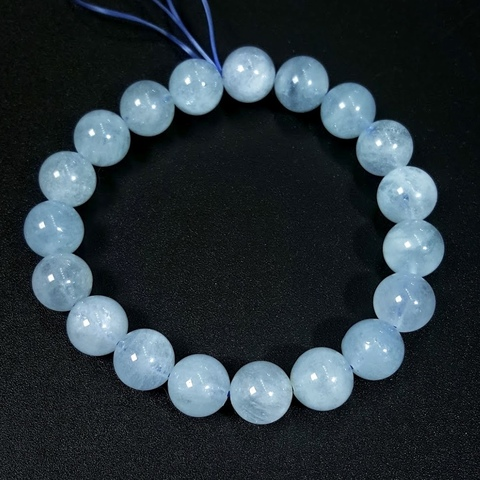 Бусины аквамарин А шар гладкий 10,2 мм 20 бусин цвет небесно-голубой