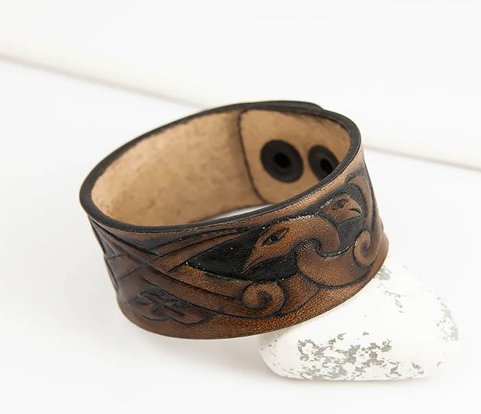 BL784 Мужской браслет с кельтскими узорами «Птицы»