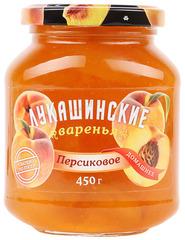 """Варенье """"Лукашинские"""" персиковое домашнее ГОСТ ст/б 450г"""