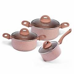 4952 FISSMAN Набор посуды 6 пр. LATTE (алюминий)