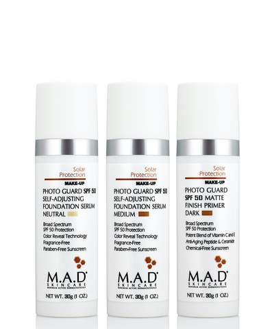 Матирующий крем-праймер с защитой Solar Protection Photo Guard SPF 50 Matte Finish Primer, Dark, M.A.D Skincare, 30 гр