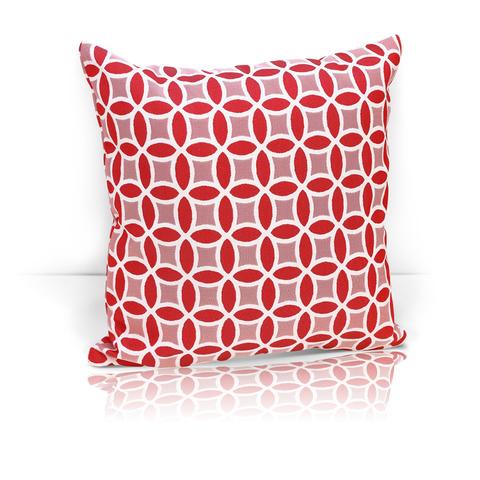 Подушка декоративная из двустороннего жаккарда Любава красный