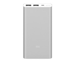 Внешний аккумулятор Xiaomi Mi Power Bank 2i 10000 mah 2 USB Silver