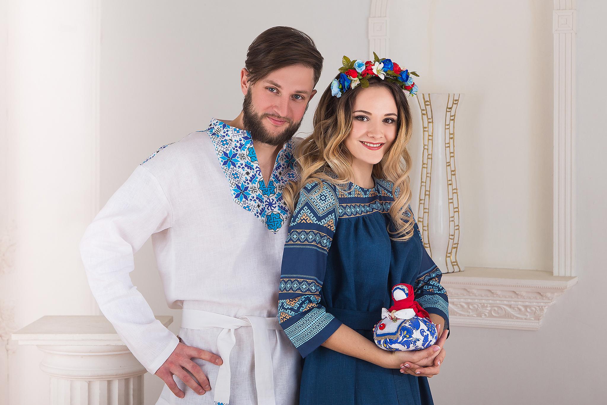 Русская рубаха Северная льняная