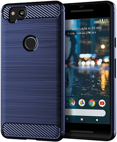 Чехол Google Pixel2 цвет Blue (синий), серия Carbon, Caseport
