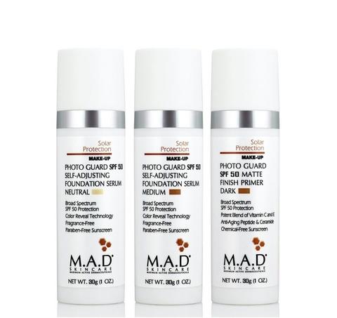 Крем-праймер матирующий  с защитой SPF 50 Dark M.A.D Skincare Solar Protection Photo Guard SPF 50 Matte Finish Primer, 30 гр