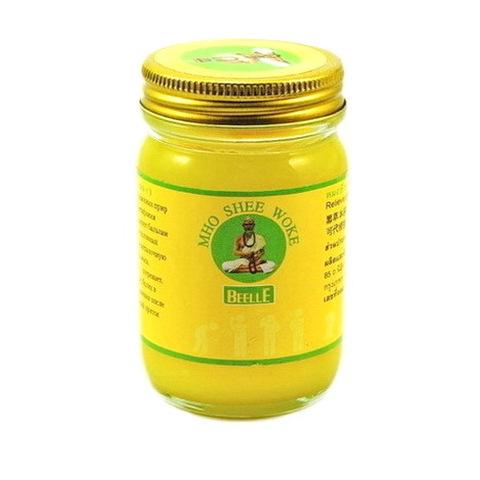 Тайский желтый бальзам MHO SHEE WOKE, 50 гр.