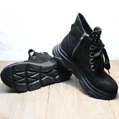 Ботинки кроссовки женские осень Rifellini Rovigo 525 Black.