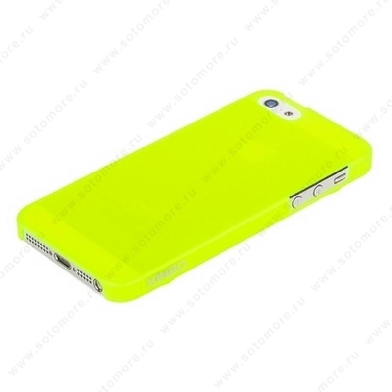 Накладка XINBO пластиковая для iPhone SE/ 5s/ 5 лимонная