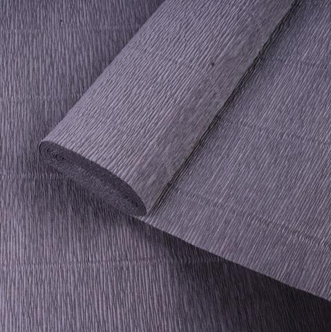 Бумага гофрированная, цвет 605 графитовый, 180г, 50х250 см, Cartotecnica Rossi (Италия)