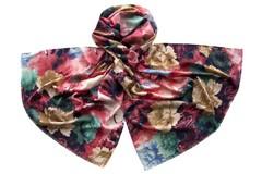 Палантин с цветами разноцветный 1503