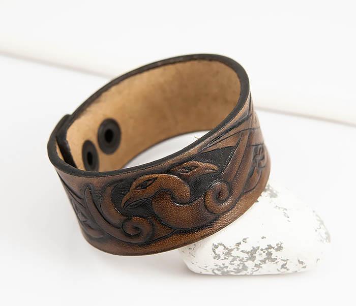 BL784 Мужской браслет с кельтскими узорами «Птицы» фото 04