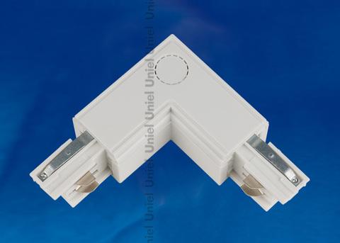 UBX-A22 WHITE 1 POLYBAG Соединитель для шинопроводов L-образный. Внутренний. Трехфазный. Цвет — белый. Упаковка — полиэтиленовый пакет.