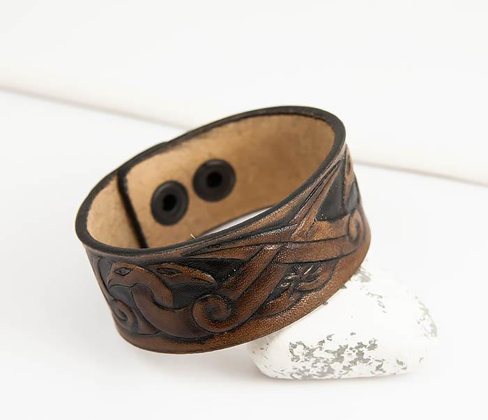 BL784 Мужской браслет с кельтскими узорами «Птицы» фото 05