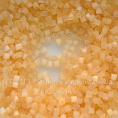 05282 Бисер Preciosa рубка 9/0, оранжево-желтый сатин