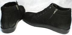 Ботинки нубук мужские зимние Luciano Bellini 71783 Black.