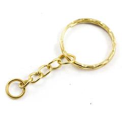 Основа для брелока кольцо с цепью цвет золото арт. osn-brelok-06