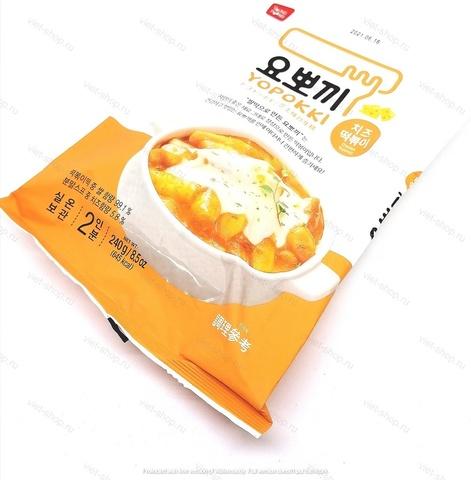 Рисовые клецки (топокки) с сырным соусом, 240 гр.