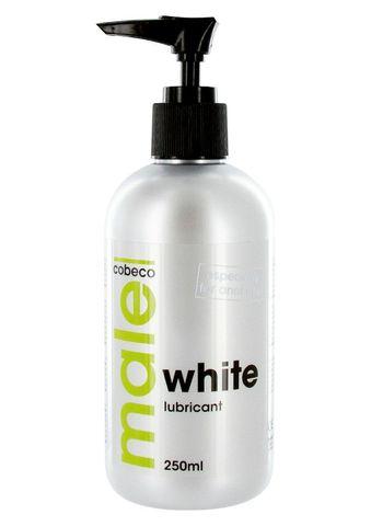 Анальная смазка на водной основе MALE Cobeco White Lubricant - 250 мл.