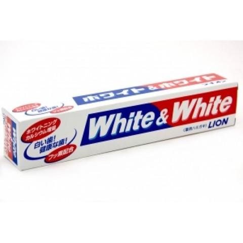 Зубная паста, Lion, White&White, с кальцием и фтором, отбеливающая 150 гр