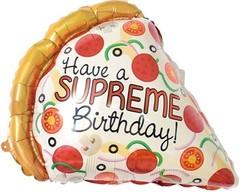 К Мини-фигура, Кусочек пиццы, Лучший День Рождения, 16''/41 см, 1 шт.
