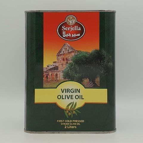 Масло оливковое нерафинированное первого отжима Virgin SERJELLA, 2 л
