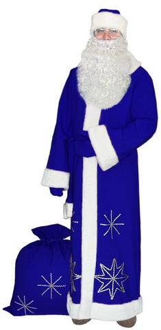 Костюм Деда Мороза Серебристые снежинки