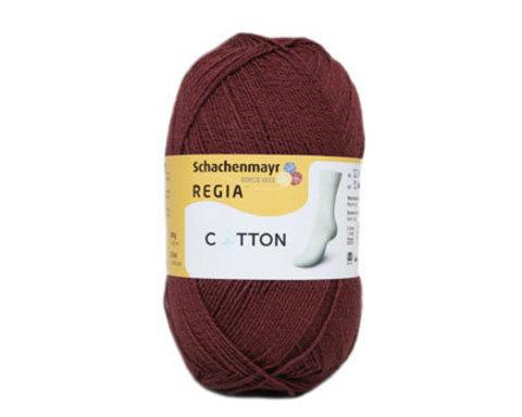 Пряжа для носков regia cotton 3328 marsala