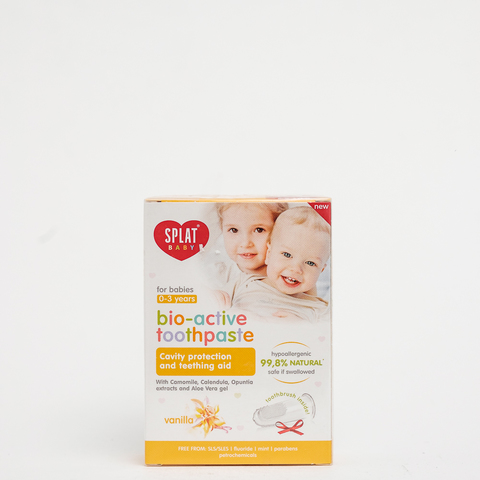 Детская зубная паста bio active vanilla Splat, 100 мл