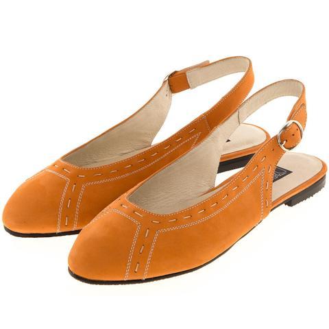 629199 Туфли летние женские оранж. КупиРазмер — обувь больших размеров марки Делфино