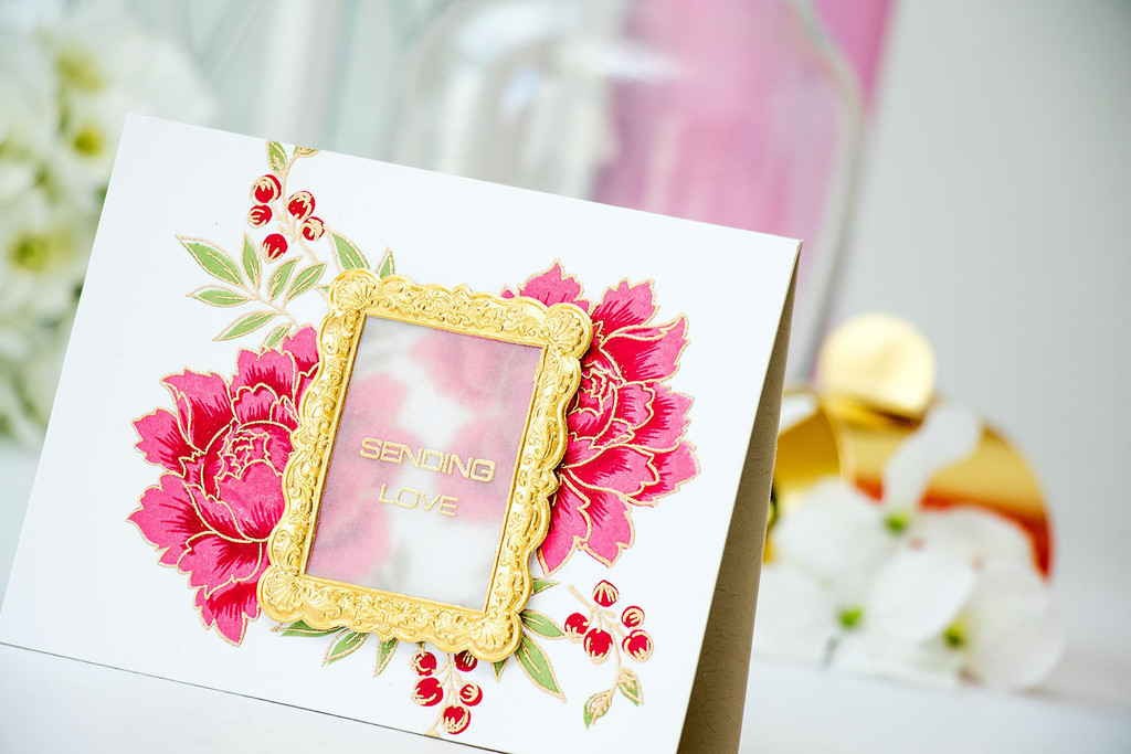 Набор штампов  и ножей  Peony Bouquet Stamp & Die Bundle