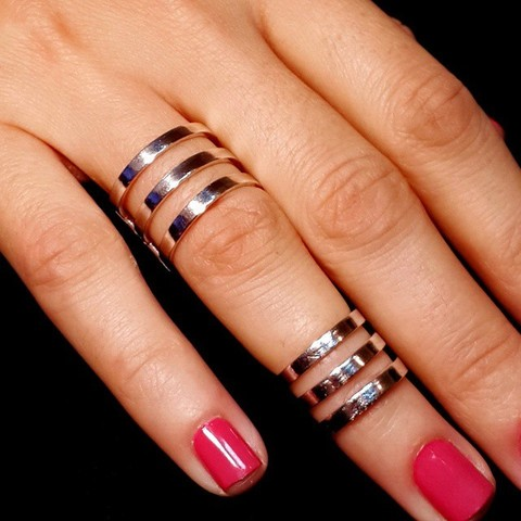 Phalanx Ring Trio, the big one,  Sterling Silver