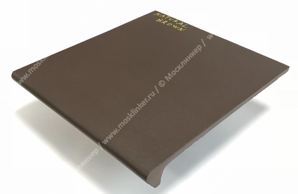 Ceramika Paradyz - Natural Brown Duro, 300x330x11, артикул 20 - Ступень простая с капиносом структурная