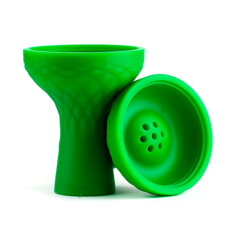 Чашка силикон чилим Зеленый с бортиком