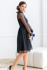 Платье средней длины Polka dot Black