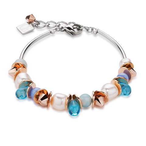 Браслет Coeur de Lion 4863/30-0600 цвет голубой, белый, бежевый