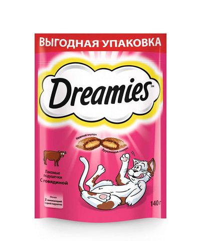 Dreamies лакомство для взрослых кошек с говядиной 140 г