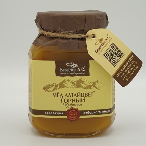 Мёд натуральный Алтайцвет Горный БЕРЕСТОВ А.С., 500 гр
