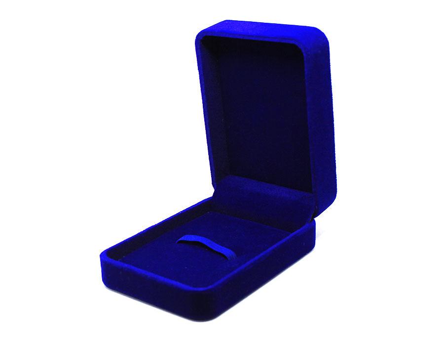 бархатная коробочка синяя big оптом