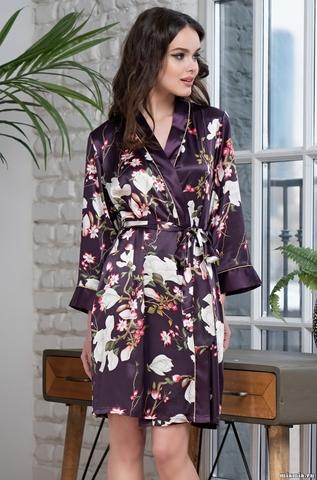 Женский халат Mia-Amore MAGNOLIA 3523 (70% натуральный шелк)