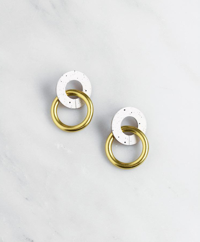 Серьги Isla Earrings in Eggshell