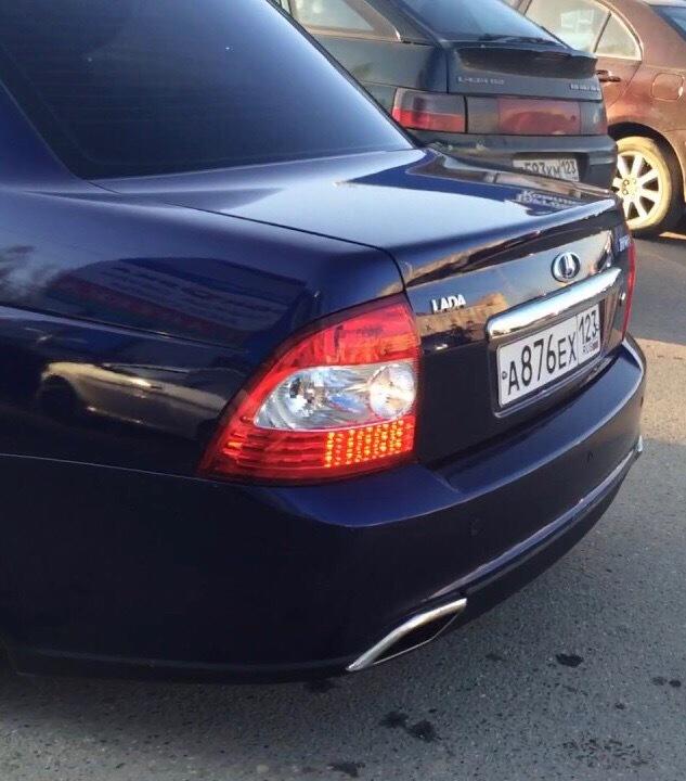 Насадки глушителя (лексус) Lexus Style на Лада Приора 2