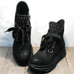 Кожаные ботинки женские Rifellini Rovigo 525 Black.