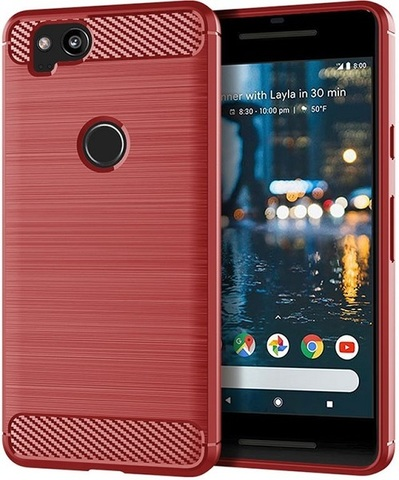 Чехол Google Pixel2 цвет Red (красный), серия Carbon, Caseport