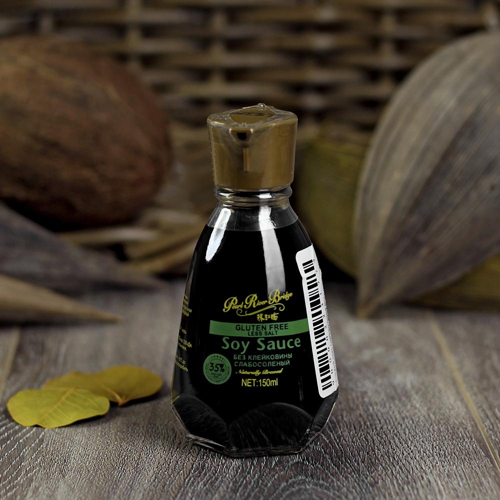 Фотография Соевый соус без глютена (слабосолёный) / 150 мл купить в магазине Афлора