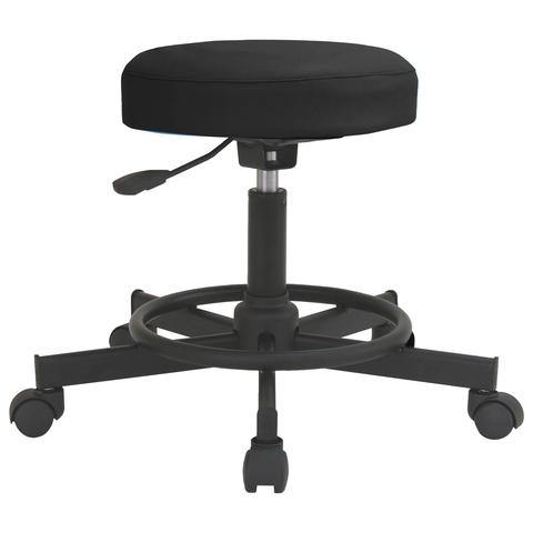 Кресло оператора РС12, без спинки, без подлокотников, кожзам, черное/белое