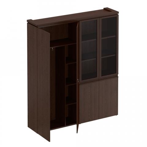МК 359  Шкаф комбинированный (для одежды + со стеклом)