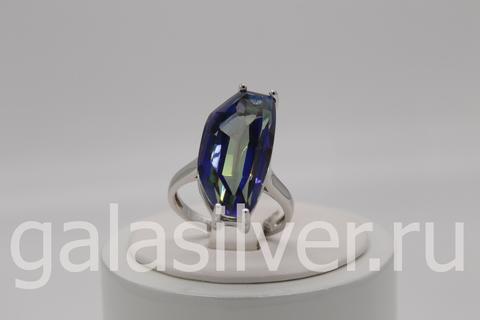 Кольцо с кварцем из серебра 925