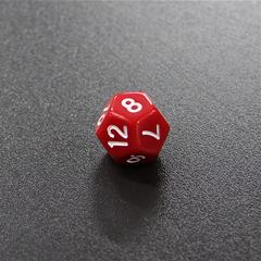 Красный двенадцатигранный кубик (d12) для ролевых и настольных игр