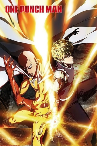 Постер One Punch Man Saitama & Genos ABYDCO503